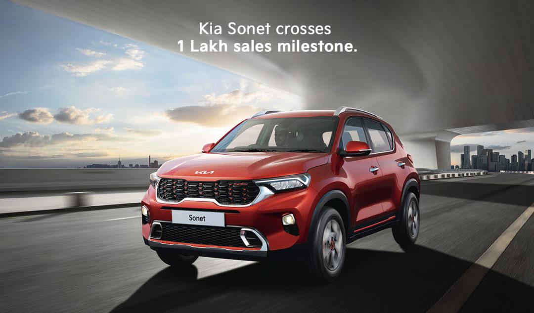 Kia Sonet crosses one lakh